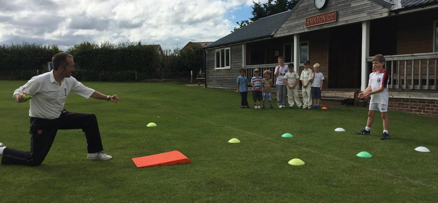 Catching work at one of my summer holiday coaching days