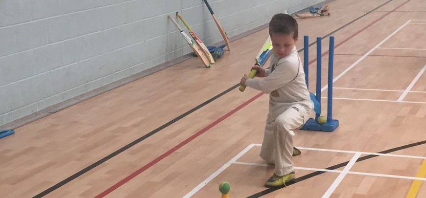 Happy children after Pete's cricket coaching and fun days in Ripon at Easter