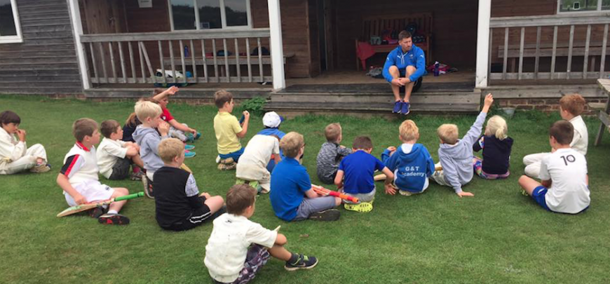Yorkshire Coach Rich Pyrah attended Pete's North Yorkshire Cricket Camp