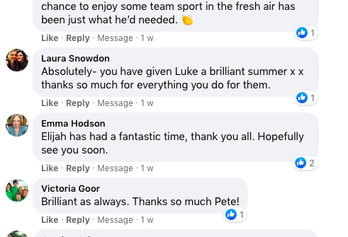 Pete Thrilled with Fabulous Parental Comments